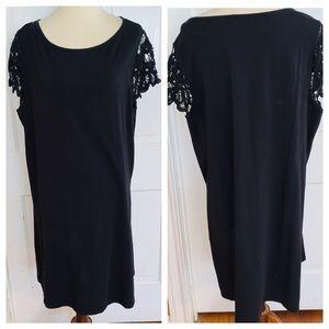 Liz Claiborne Cotton Sheath Dress w/ lace Sleeves